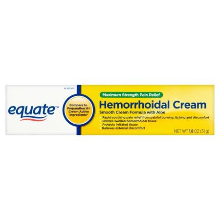 Equate Maximum Strength Pain Relief Hemorrhoidal Cream  1 8 Oz