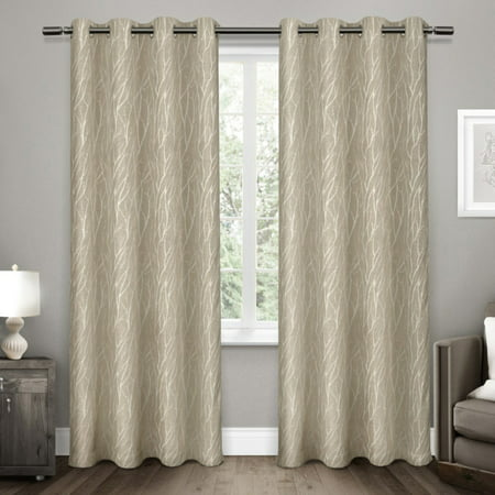 (Forest Hill Woven Blackout Grommet Top Window Curtain Panel Pair)