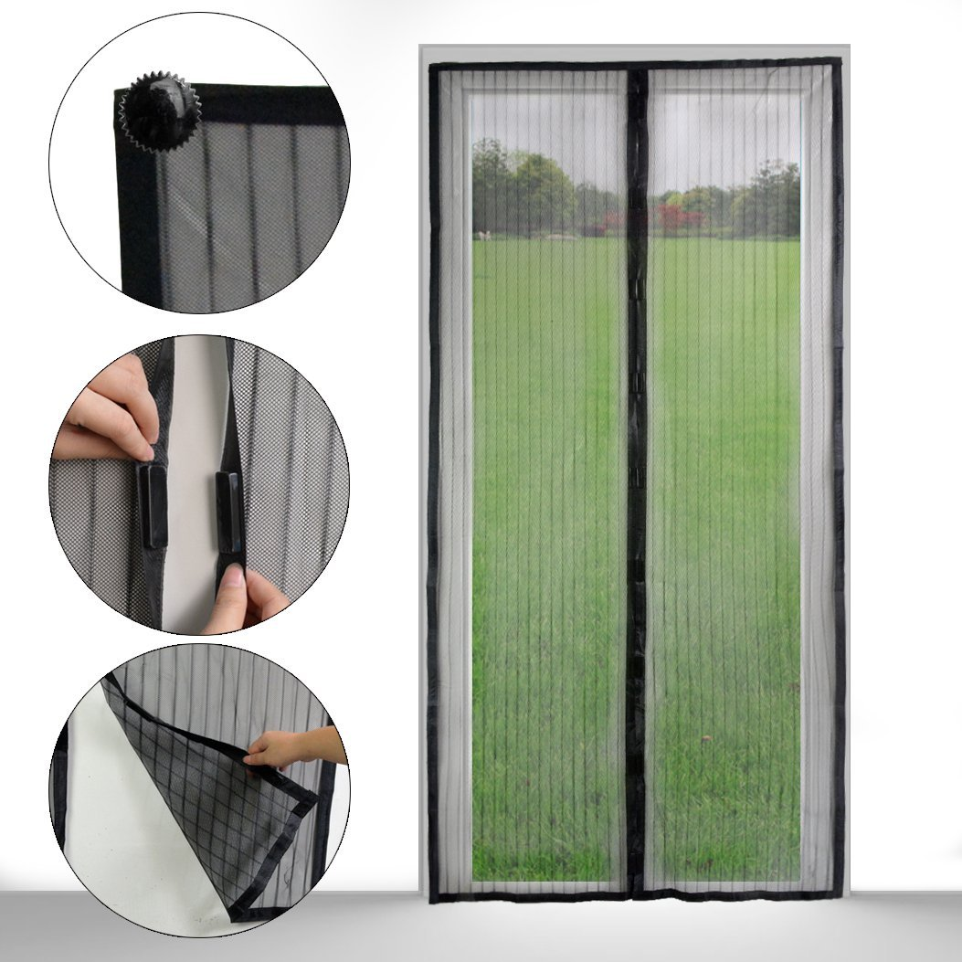Magnetic Mosquito Mesh Screen Door Heavy Duty Mesh Hands Free