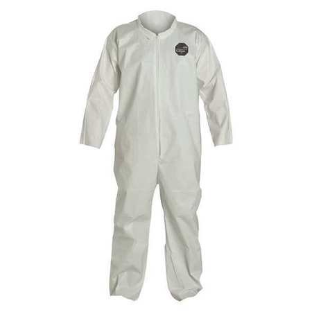 DuPont NG120SWHMD00 Medium White Safespec 2.0 ProShield NexGen Disposable Coveralls With Front Zipper Closure (1/EA)