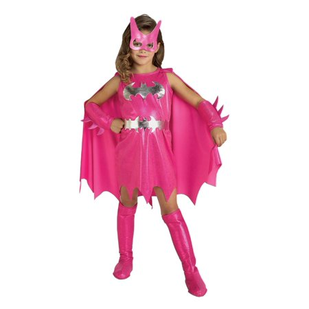 DC Comics Toddler Girls Pink Batgirl Costume Bat Girl 2T-4T (Bat Girl Costumes)