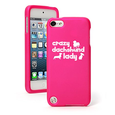 702e88be90c Apple iPod Touch 5 5th Generation Rubber Hard Case Cover Crazy Dachshund  Lady (Hot Pink) - Walmart.com