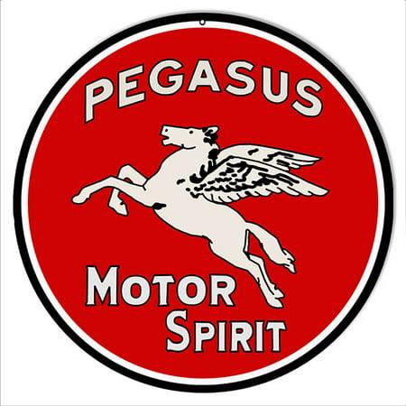 Pegasus Motor Spirit Motor Oil Reproduction Metal Sign