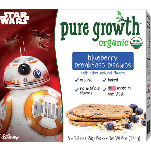 Pure Growth Star Wars Organic Blueberry Breakfast Biscuits, 6 oz