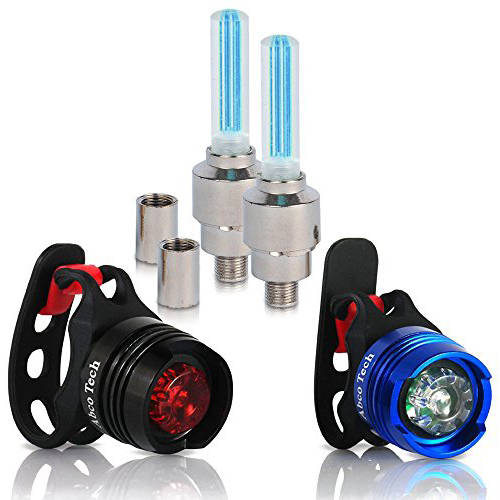 Front and Rear Aluminum LED Bike Light Set