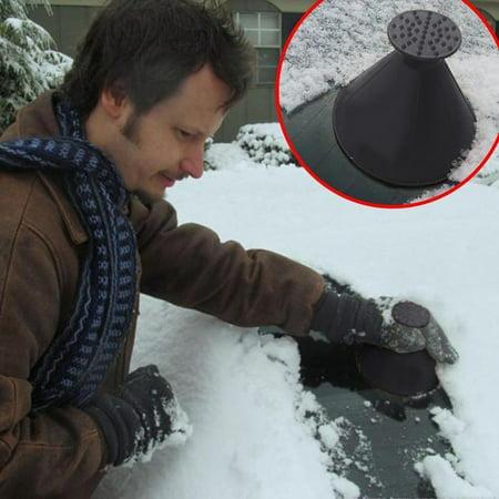 Scrape A Round Magic Cone-Shaped Windshield Ice Scraper Snow Shovel Tool Shaped Ice Scraper