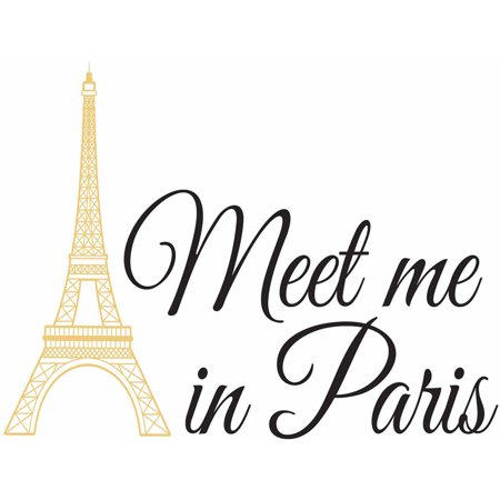 WallPops Meet Me In Paris Wall Quote