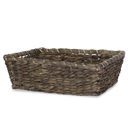 Large Rect Sea Grass Bamboo Utility Basket - Brown 15in