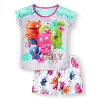Girls' Ugly Dolls 2 Piece Pajama Sleep Set (Little Girl & Big Girl)