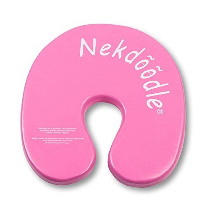 Nekdoodle - Permanently Buoyant Swimming Pool Float for Aquatic & Water Training, Exercises and Fun & Recreation - Fits Kids and Adults - Hot Pink