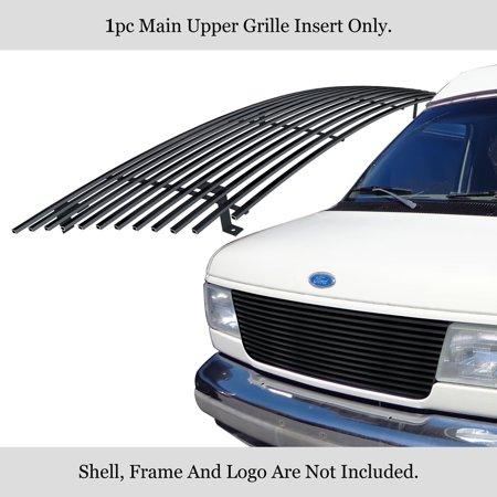Compatible with 1992-2007 Ford Econoline Van Black Stainless Steel Billet Grille F85020J