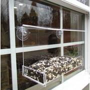 JCs Wildlife Classic 8 Acrylic Window Bird Feeder - Holds 2 Cups