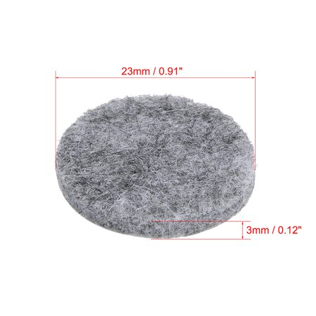 Furniture Pads Adhesive Felt Pads 23mmx3mm Floor Protector Round Gray 48Pcs - image 4 of 6
