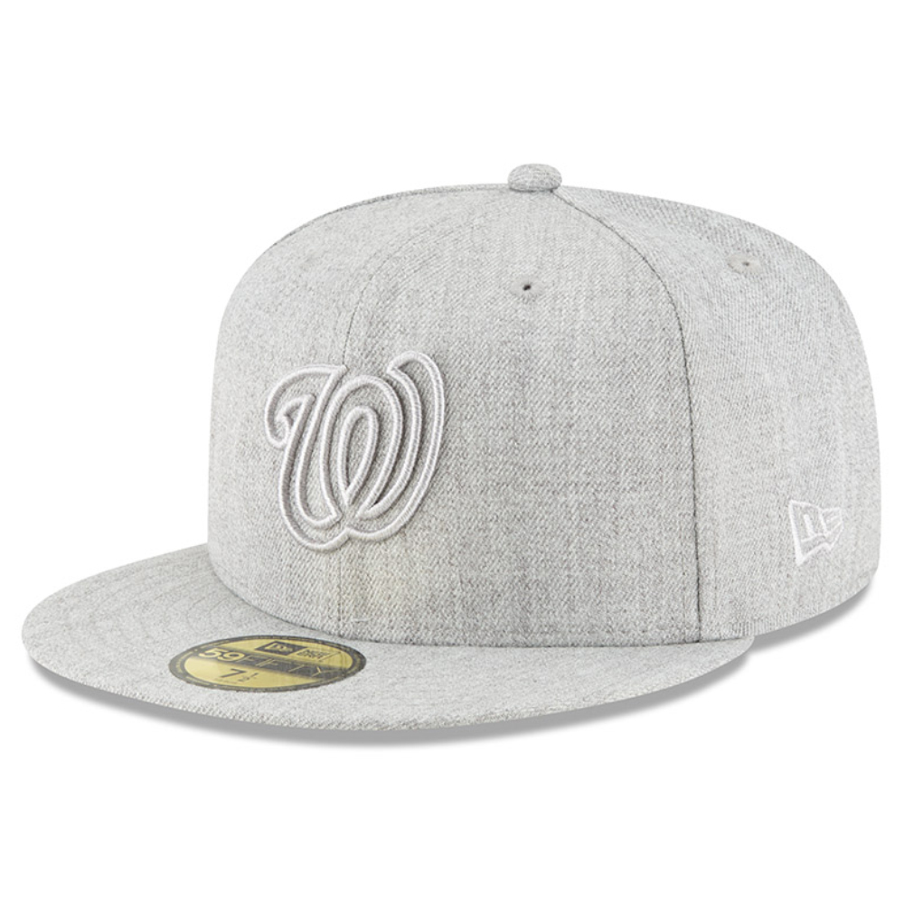 Washington Nationals New Era Twisted Frame 59FIFTY Fitted Hat - Gray