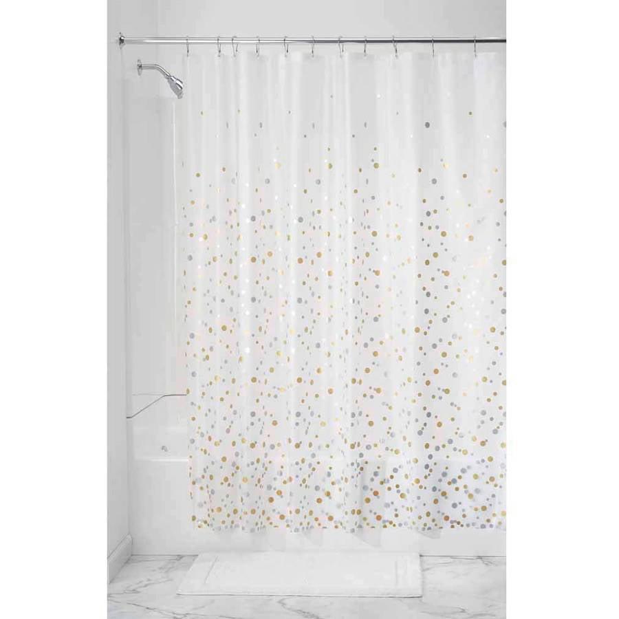 InterDesign Confetti PEVA Decorative Shower Curtain Liner