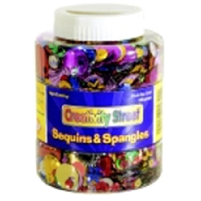 Chenille Kraft 8. 8 Oz.  Plastic Reflective Assorted Shape Sequin And Spangle Shaker Jar