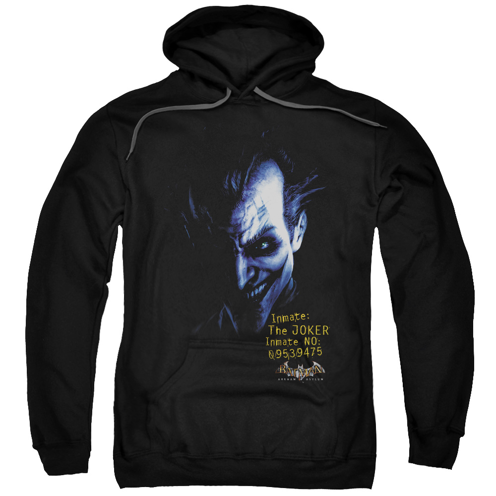 Batman Aa Arkham Joker Adult Pull Over Hoodie Black Bm1820 by Trevco