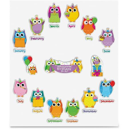 Carson-Dellosa Colorful Owls Birthday Bulletin Board Set