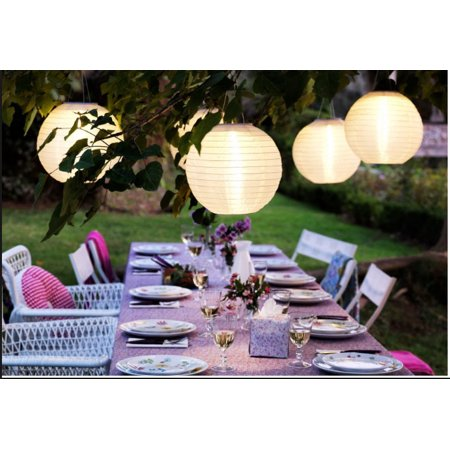 Weatherproof Solar LED Garden/Patio Chinese - Solar Paper Lanterns