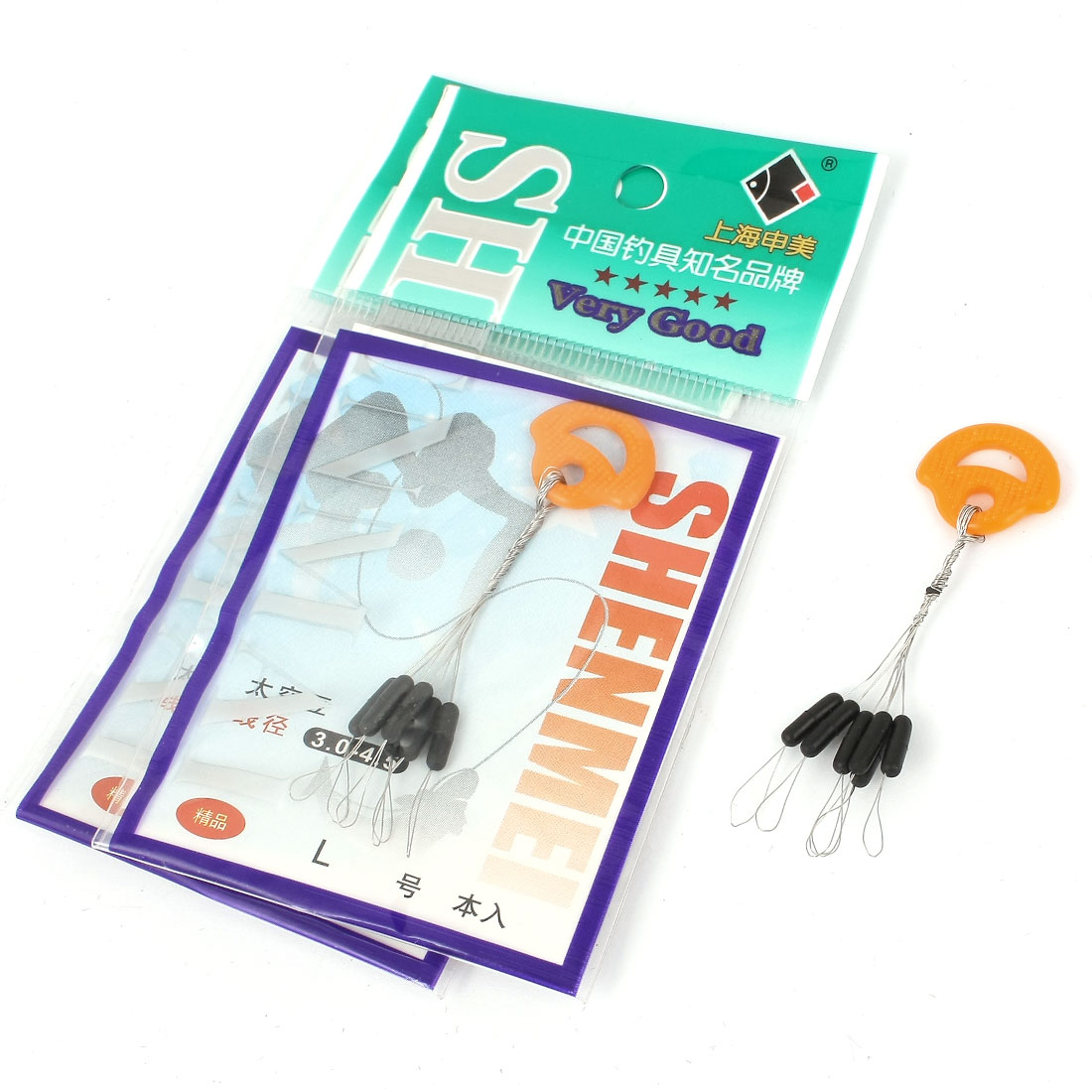 Unique Bargains 6 in 1 Rubber Fishing Floaters Bobbers Size L 7 x 2 mm 3 Pcs by