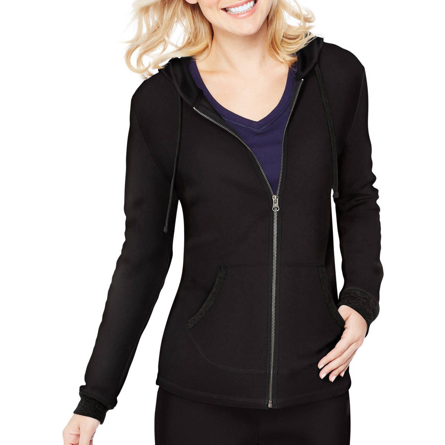 Hanes Women's French Terry Zip Hood Jacket