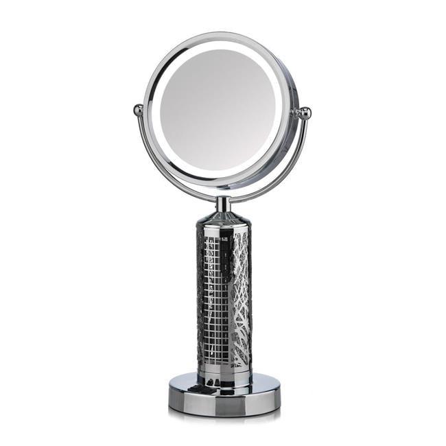 Decobreeze Fty6148 Fanity Led 10x Illuminated Vanity Mirror Elegant Tower Fan All In One