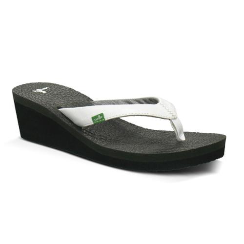 Sanuk Yoga Mat Wedge Women's Sandals 9 White