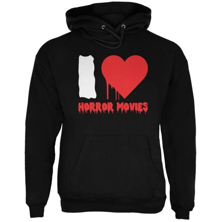Halloween I Heart Horror Movies Black Adult - Halloween Movie Hoodie