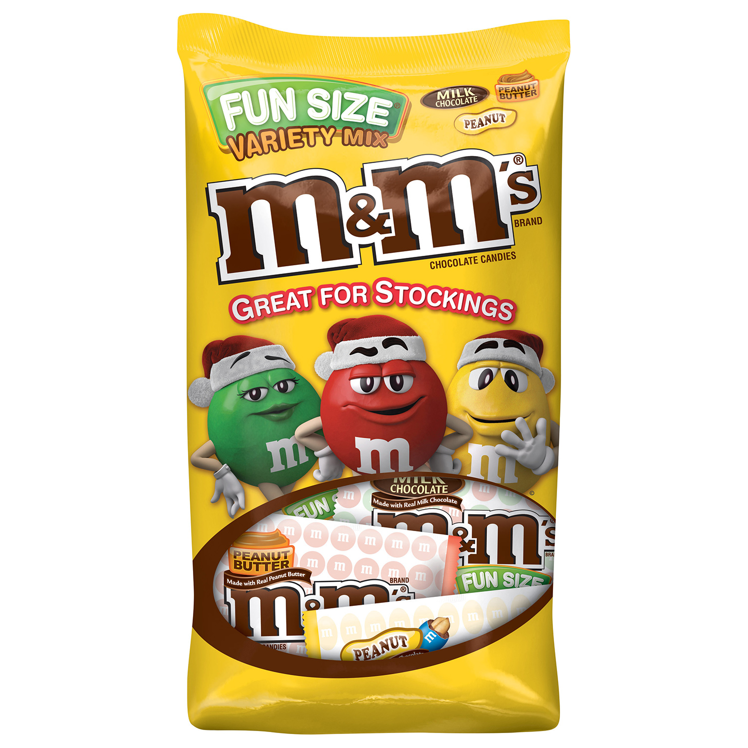 M&M'S Holiday Variety Mix Chocolate Candy Fun Size Bag, 20.1 oz