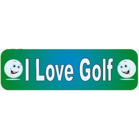 10In X 3In I Love Golf Bumper Magnets Magnetic   Magnet Golf Balls