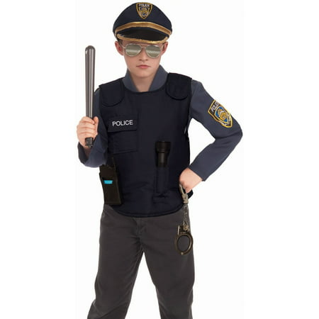 Halloween Child Police Vest Costume - Police Uniform For Kids