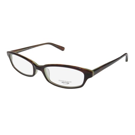 New Oliver Peoples Maria Womens/Ladies Cat Eye Full-Rim Brown Stunning Cat Eye Stylish Frame Demo Lenses 49-16-135 Eyeglasses/Eyeglass Frame 1013 Eyeglasses Brown Frame