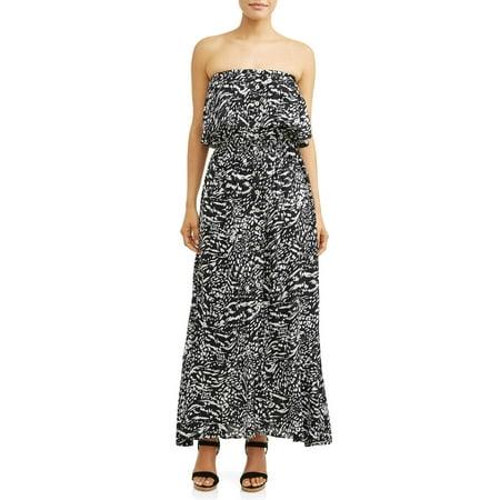 Sofia Jeans By Sofia Vergara Strapless Maxi Dress Women's