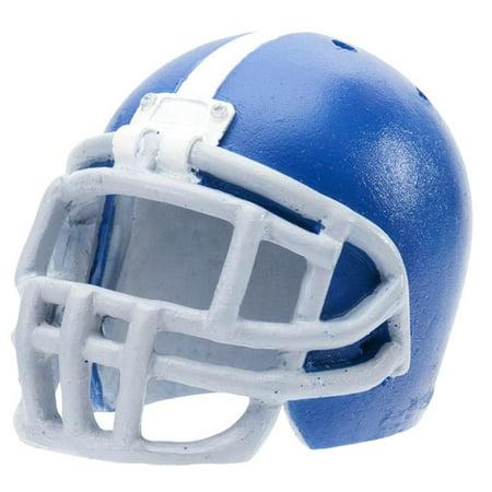 Penn-Plax RR3062 Aerating Bubbling Aquarium Football Helmet Ornament Decorations, Blue](Football Helmet Decorations)