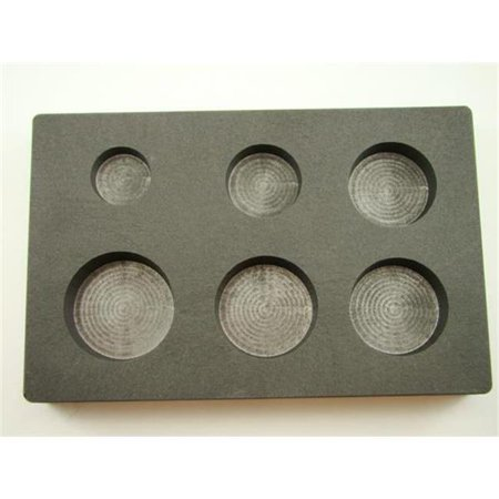 Make Your Own Gold Bars 1-2-3-4-5-6 oz Round Mold 1, 2, 3, 4, 5 & 6 oz Round Gold Bar High Density Graphite Mold Combo 6 Cavities