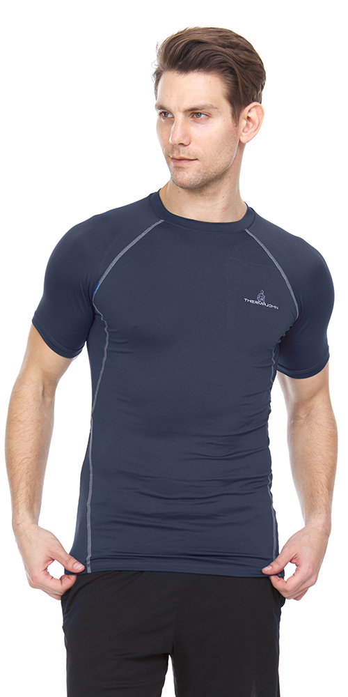 Mens Cool Dry Compression Short Sleeve Sports Baselayer T-Shirts Tops