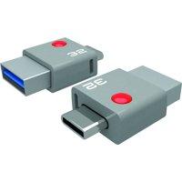 EMTEC Flash Drive USB 3.0 DUO USB-C T400, 32GB