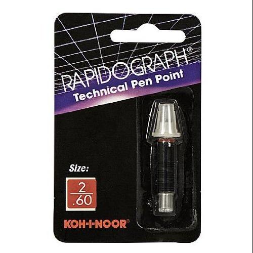 KOH-I-NOOR Rapidograph No. 72d Replacement Points 2 0.60 mm (72D.2)