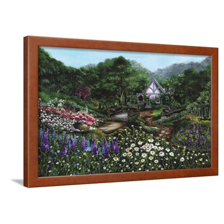Romantic Cottage Framed Print Wall Art By Bonnie B. (Romantic Country Cottages)