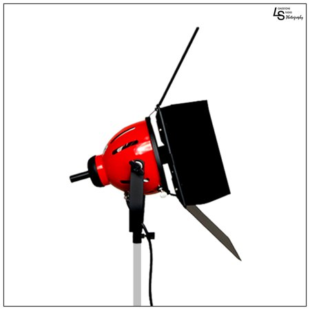 800W Halogen Tungsten Continuous Adjustable Focus Barndoor Light Head for Photo, Film, Stage, Video by Loadstone Studio WMLS0126