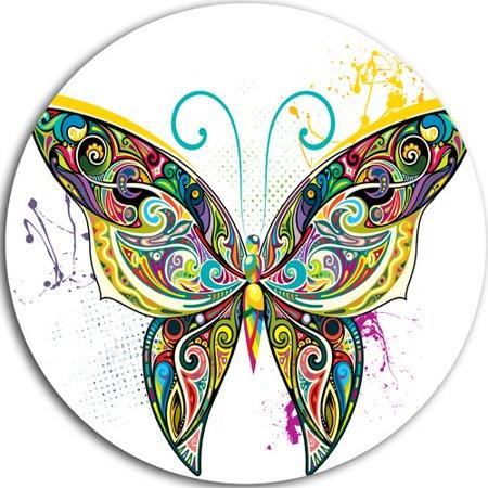 Design Art 'Openwork Butterfly' Graphic Art Print on (Openwork Metal)