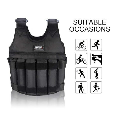 - Sonew Fdit Weighted Vest Jacket Adjustable Workout Weight Exercise Training Waist