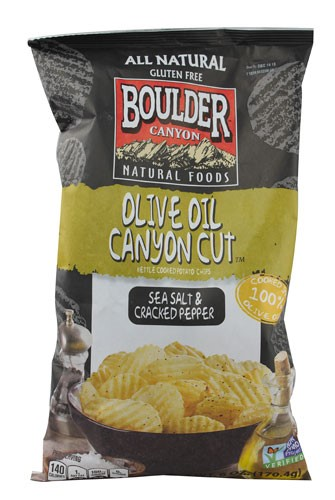 Boulder Canyon Natural Foods Canyon Cut Kettle Cooked Potato Chips Sea Salt and Cracked... by Boulder Canyon Natural Foods