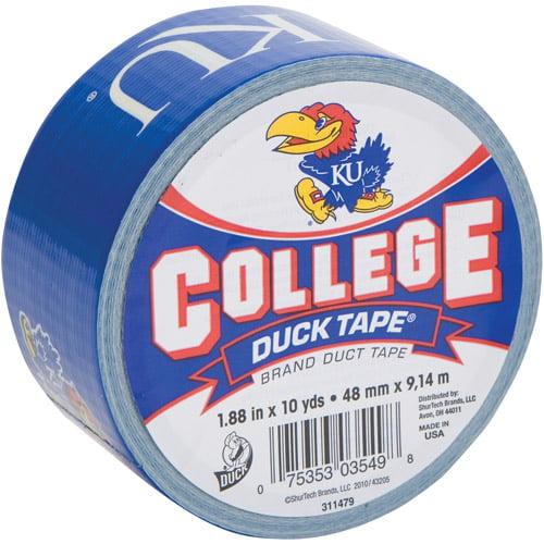 "Duck Brand Duct Tape, College Logo Duck Tape, 1.88"" x 10 yard, Univ. of Kansas Jayhawks"