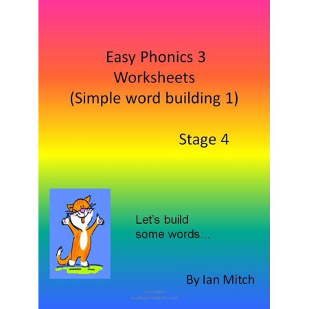 Easy Phonics 3 Worksheets (Simple word building 1) - eBook](Halloween Color Word Worksheets)