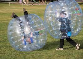 2 Pack Human Inflatable Bumper Balls ,4Ft kids Bumper Balls For 8 UP Knocker Bubble Soccer Balls Outdoor... by
