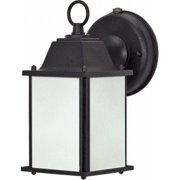 Nuvo Lighting 60-2529 Cube Lantern ES - 1 Light Wall Lantern with Frosted Beveled Glass - Lamp Included