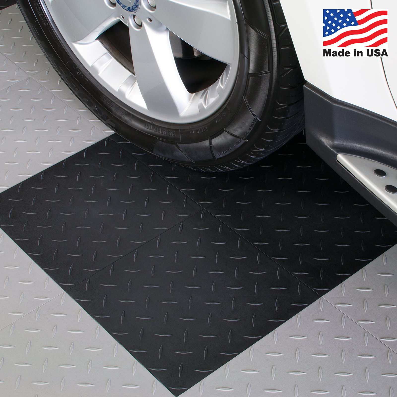 Blocktile garage flooring diamond top interlocking tiles set of blocktile garage flooring diamond top interlocking tiles set of 27 walmart dailygadgetfo Choice Image