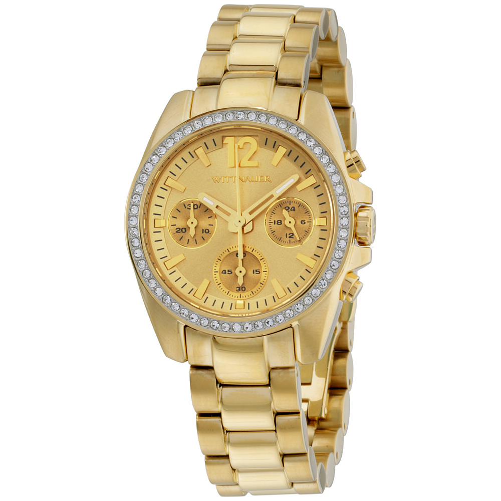 Wittnauer WN4074 Ladies Lucy Gold Plated Chronograph Watc...
