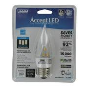 Feit 2W LED Flame Tip Light Bulb - 6 pk.